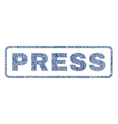 Press textile stamp vector