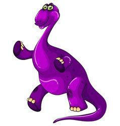 Purple dinosaur standing up vector
