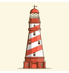 Retro lighthouse vector image vector image