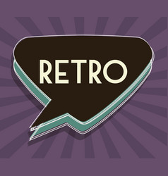 Retro speech bubble icon vector