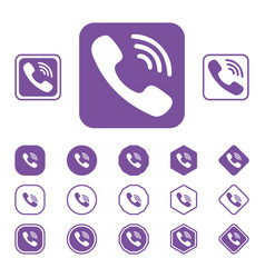 Set of viber flat icon on a white background vector