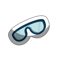 Snowboarding glasses isolated icon vector