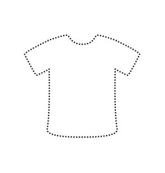 t-shirt sign black dotted icon on white vector image