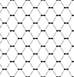 Tie bow seamless pattern monochrome vector image