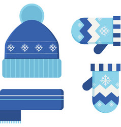 Winter hat and scarf vector