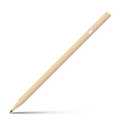 wooden sharp pencil isolated on white background vector image vector image