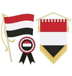 yemen flags vector image vector image