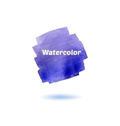 Splash blue watercolor isolated on white backgrou vector