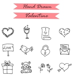 Icon of valentines day gift bird doll vector