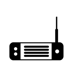 Wireless router isolated icon vector