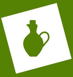 Amphora sign   white icon vector