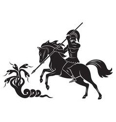 Hercules and Hydra vector image