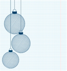 Hand-drawn christmas balls vector