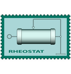 Rheostat on stamp vector