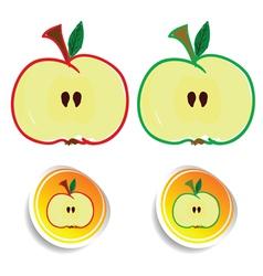 Sticker apple color vector
