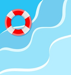 Lifebuoy on the water vector