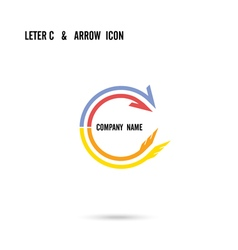 Creative letter c icon logo design vector