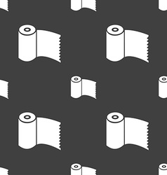 Toilet paper wc roll icon sign seamless pattern on vector