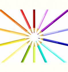 coloured pencils round vector image
