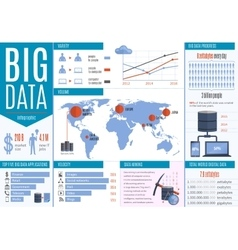 Data processing infographics vector