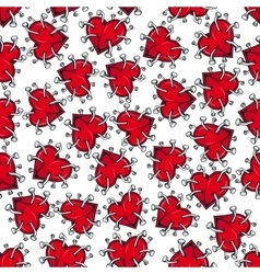 Spiky broken hearts with nails seamless pattern vector