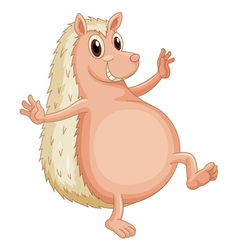 Hedgehog standing vector image