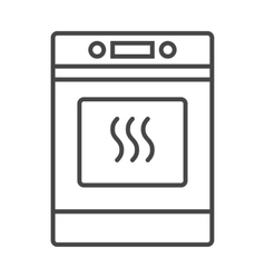 Oven icon outline vector