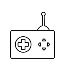 Control and button icon video game design vector