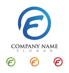 F letter faster the future logo vector