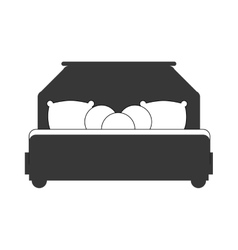 Bed silhouette icon resting and sleep design vector