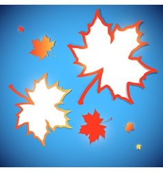 abstract maple leaves frames vector image