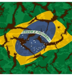 Brazilian grunge flag Grunge effect can cleaned vector image