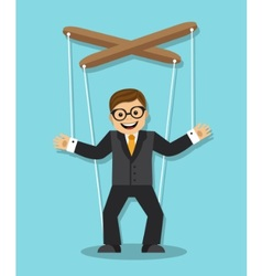 businessman puppet vector image