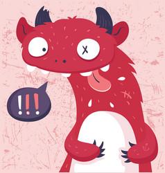 cartoon monster vector image vector image