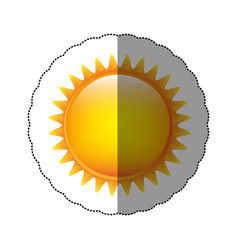 color sticker sun icon vector image vector image