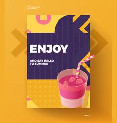 Enjoy summer poster vector