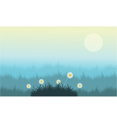 Flower and grass vector