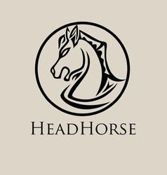 Head Horse Logo vector image vector image