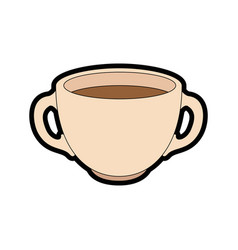 hot drink of chocolate vector image