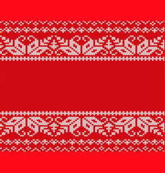 knit christmas design geometric seamless pattern vector image vector image
