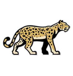 majestic leopard mascot vector image vector image