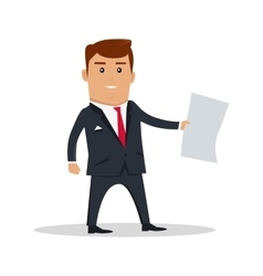 Man character with paper vector