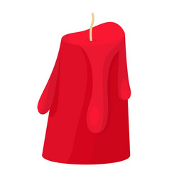 red melted candle icon flat style vector image vector image