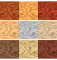 Set color wood texture vector image
