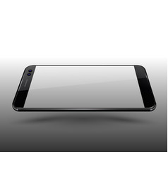 Smartphone mockup transparent display screen easy vector