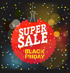 super sale concept black friday red tag vector image vector image