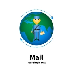 the concept of mail vector image vector image