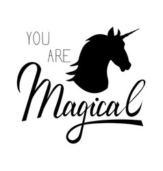 Unicorn mythical horse vector