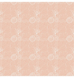 Valentine floral seamless retro pattern vector image vector image