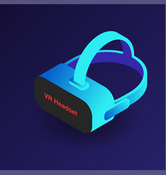 vr headset isometric 3d virtual reality glasses vector image